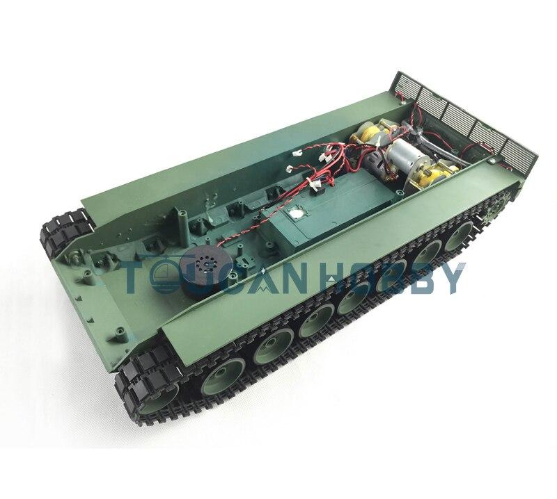 В henglong 1/16 масштаб модель танка Leopard2A6 радиоуправляемый 3889 полный пластик шасси