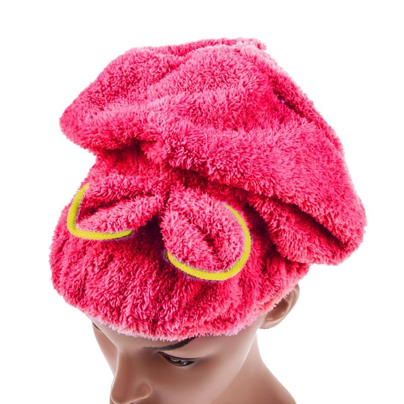 Sombrero para el pelo de microfibra, 6 colores, gorra para mujer y niña, accesorios de baño, toalla de secado, envoltura para la cabeza