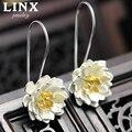 925 Sterling Silver Stud Earrings Lotus Flower Earrings For Women Lovely Girls Gift Statement Jewelry CY080