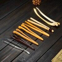 1 STÜCK Tee Clip  bambus Holz Edelstahl Gekrümmte Natürlichen Tee Löffel Tee Zubehör-in Teeklammern aus Heim und Garten bei