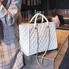 유럽 스타일의 패션 복고풍 여성 대형 핸드백 숄더 백 2019 새로운 품질의 PU 가죽 여성 디자이너 핸드백 큰 토트 백