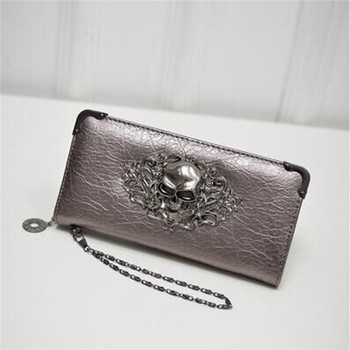 Women's Lace Skull Wallet Bags and Wallets Best Seller Hot Promotions Women's Wallets Color: Champagne