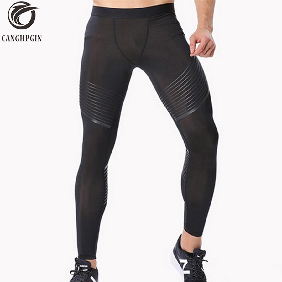 2018 Men's Compression Pants Running Tights Men Joggers Jogging Skinny Sport Leggings Gym Compression Fitness Athletic Trousers цена