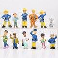 12 Pçs/set Fireman Sam action figure toys 2.5-6 cm Bonito Dos Desenhos Animados DO PVC brinquedos Bonecas Para Crianças bombeiro sam