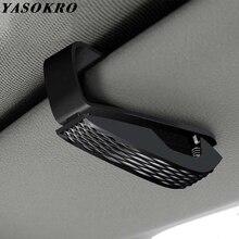 YASOKRO переносная застежка Cip зажим для очков зажим для билетов, карточек ABS автомобильные чехлы для очков Черный Автомобильный солнцезащитный козырек держатель для солнцезащитных очков
