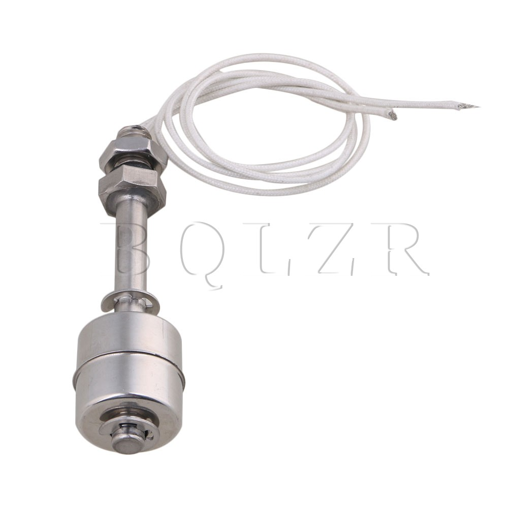 BQLZR 75mm Silver AC110V Stainless Steel Tank Water Liquid Pool Level Sensor Vertical Float Switch 1 2 built side inlet floating ball valve automatic water level control valve for water tank f water tank water tower