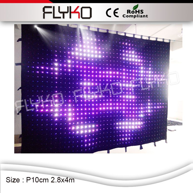 P100mm FLYKO Professional Manufacturer Fashionable Design RGB Led Video  Curtain 2.8X4M Backdrops Wall(China