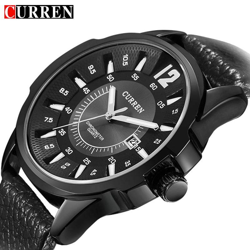 CURREN Black Men Watches Top Brand Luxury Famous Quartz Watch Uhr Military Curren Male Clock Men Hodinky Relogio Masculino 8123 orkina montres 2016 new clock men quarz watch uhr uhr cool horloges mannen gift box wrist watches for men