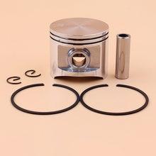 Conjunto de anéis de pistão 50mm, para husqvarna 365 371 362 371xp 372 372xp, peças de reposição