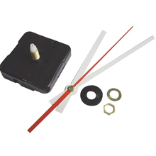 10 sets high quality 21 mm shaft Silent wall Clock Quartz Movement Mechanism Black and Red Hands Repair Kit Tool Set
