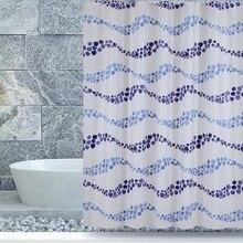 1,8*1,8 Cm Wasserdicht Duschvorhang Mit Haken Blau Welligkeit Bad Vorhang  Hohe Qualität Bath Baden Sheer Für Zuhause Dekoration