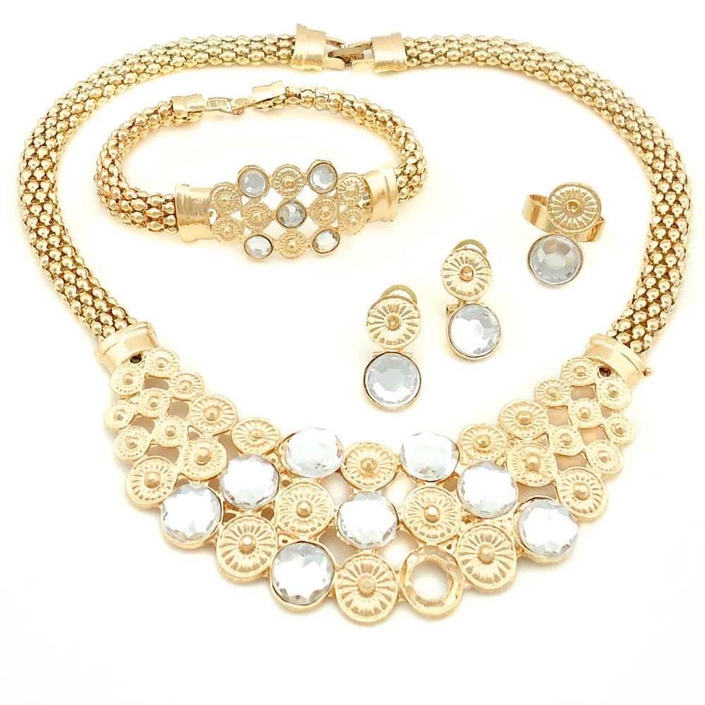 e3a2b07f416 US $44.97  elegant african costume jewelry set/18k gold plated dubai  jewelry sets/necklace gold for wedding jewelry set/-in Jewelry Sets from  Jewelry ...