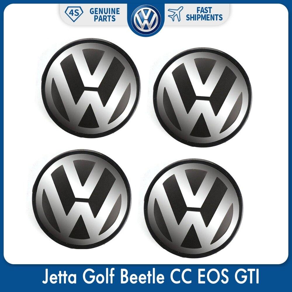 4 шт./компл. 56 мм логотип эмблема значок сердечник колеса Кепки для VW Volkswagen Jetta Golf Beetle CC GTI 1J0 601 171