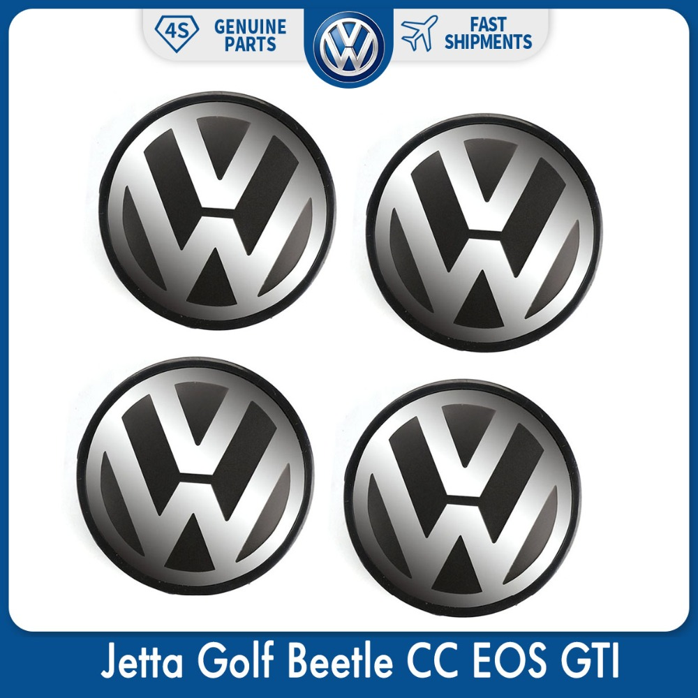4 pçs/set 56mm Logo Centro de Roda Hub Cap Emblema Do Emblema para VW Volkswagen Jetta Golf Beetle CC EOS GTI 1J0 601 171