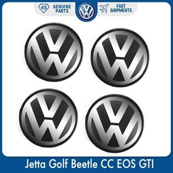 4pcs/Set 56mm Logo Emblem Badge Wheel Center Hub Cap for VW Volkswagen Jetta Golf Beetle CC EOS GTI 1J0 601 171 125mm chrome 1t0 853 601 a front radiator grille emblem car logo badge for vw jetta gli gti eos rabbit 2006 2009 1t0853601a