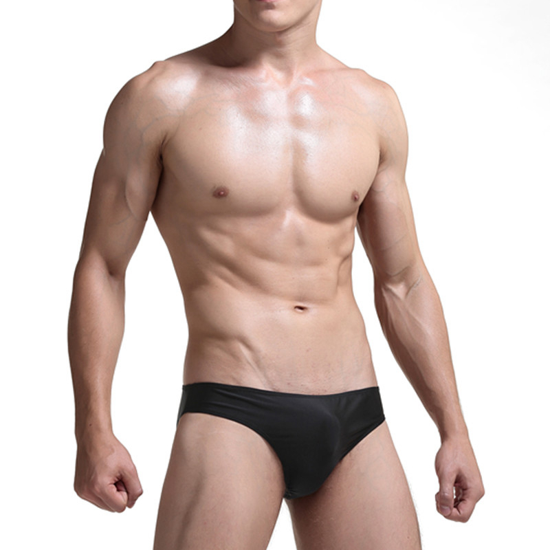 NEW 2018 Mens Trunks Low Waist Briefs Underwear Ice Thong Lingerie G-String 4 Color Gift Trunks