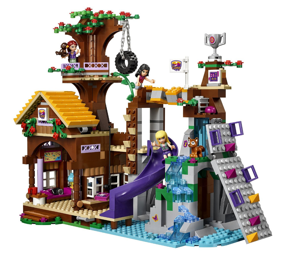 BELA Friends Series Adventure Camp Tree House Building Blocks Classic For Girl Kids Toys  Marvel Compatible Legoe 10497 bela friends series adventure camp tree house model building blocks enlighten figure toys for children compatible legoe
