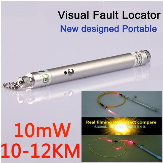 10mW 12KM Visual Fault Locator VFL Fiber Optic Laser Cable Tester Red Light
