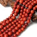 Atacado Natural Red Coral Stone Rodada Contas Loose Para Fazer jóias 4/6/8/10/12/14mm Colar Pulseira DIY Strand 15.5''