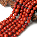 Wholesale  Natural Red Coral Stone Round Loose Beads For jewelry Making 4/ 6/8/10/12/14 mm DIY  Bracelet Necklace Strand 15.5''