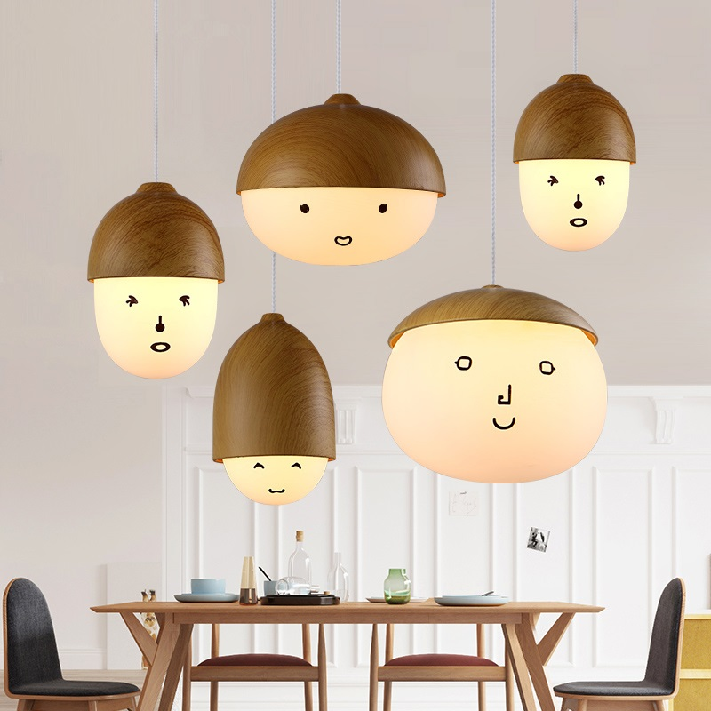 LED Nordic Cafe Hanging lights Novelty living room Fixtures restaurant bar Retro Lighting Modern iron dining room Pendant Lights american pendant lights country retro iron forest antlers nordic creative restaurant small living room bar dining room lu725235