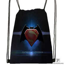 Custom batman vs superman Drawstring Backpack Bag Cute Daypack Kids Satchel Black Back 31x40cm 180611 01
