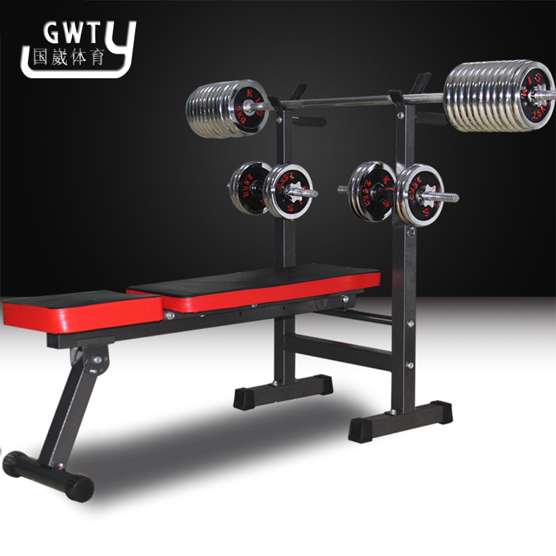 New Adjustable Weight Benches barbell rack 2016 new Professional sports font b Multifunctional b font weightlifting