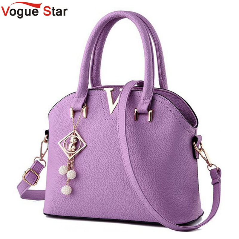 Vogue Star 2017 New Women Leather Handbags Fashion Shell Bags V Letter Hand Bag Ladies Tote