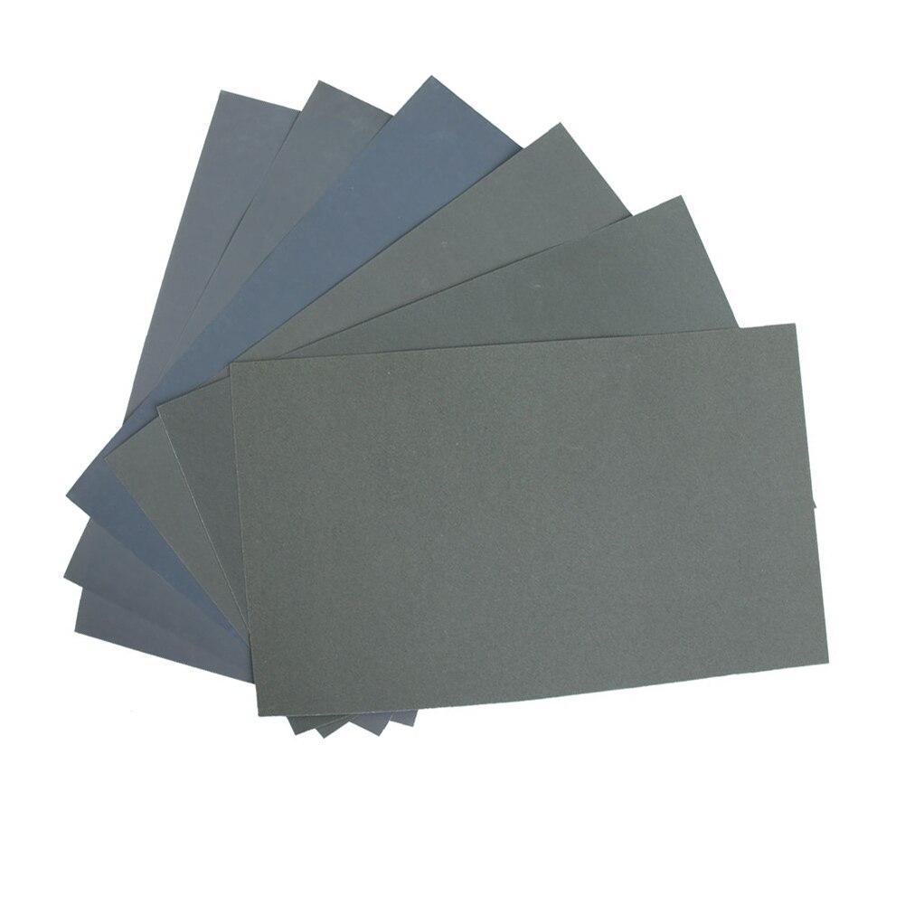 High  1/2/6pcs Grit  Wet And Dry Polishing Smoothing Wet / Dry Abrasive Sponge Sandpaper Paper Sheets Surface Finish Made LG66