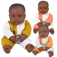 black African skin ! baby dolls lol reborn cotton vinyl 40cm 16inch poupee boneca elf soft toy girl kid present gift