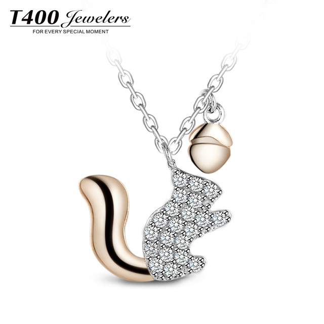 T400 jewelers women collarbone necklace animal little squirrel t400 jewelers women collarbone necklace animal little squirrel pendant accessories japan and korean style 10879 aloadofball Gallery