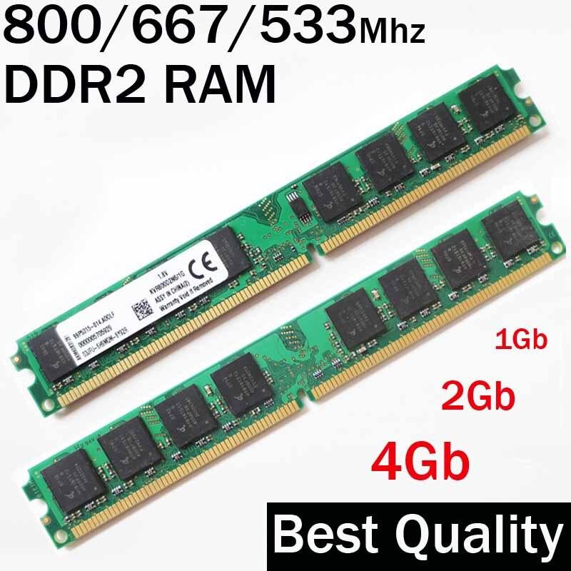 Оперативная память DDR2 ОЗУ 4 Гб 2 Гб 1 ГБ ddr2 800 667 53/800 МГц 667 МГц 533 МГц/memorias RAM ddr 2 PC2-6400/пожизненная Гарантия