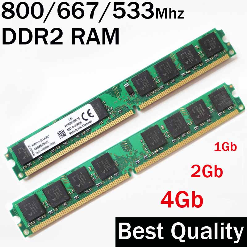 Speicher DDR2 RAM 4Gb 2Gb 1Gb ddr2 800 667 533/800 Mhz 667Mhz 533Mhz /ram memorias ddr 2 PC2-6400/lebenslange garantie