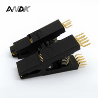 2PCS / Lot BIOS SOP8 + SOP16 Original Bent Test Clip Pin Pitch 1.27mm SOIC Universal Body Programming Clip Adapter