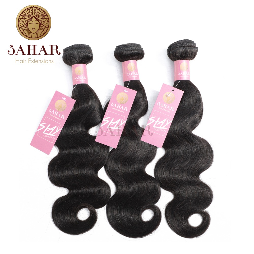 Beautiful Sahar Brazilian 100% Human Hair Bundles Peruvian Body Wave Hair 1/3/4 Piece 10-26 Inches Natural Color Non Remy Hair Extensions Promoting Health And Curing Diseases Hair Extensions & Wigs