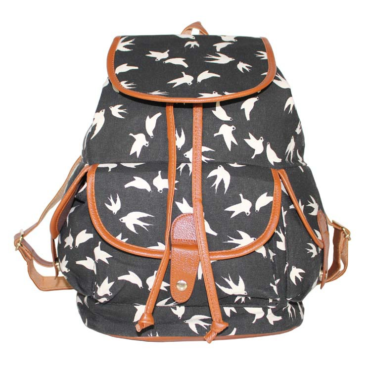 2017 School Bag Bohemian Vintage Women Backpack Drawstring Printing Canvas Bagpack Sac a Dos Femme Rucksack