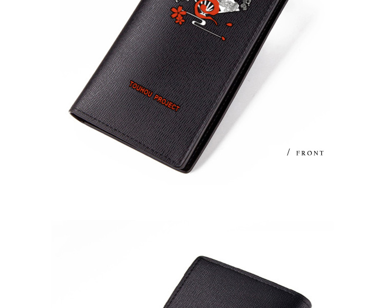 TOUHOU Project Wallet Hakurei Reimu Short Purse Nice Anime Kirisame Marisa Remilia Scarlet Wallets Kids (8)