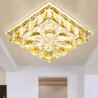 Modern Fashion Square Led Crystal Ceiling Light Entrance Aisle Lights