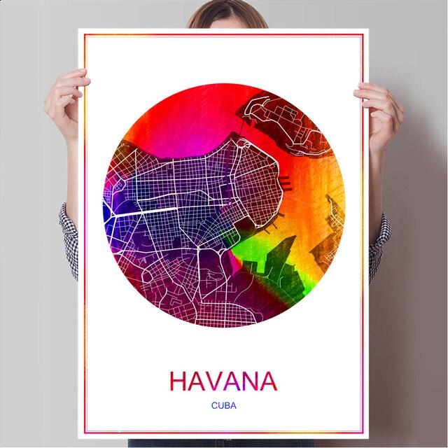 Havanna Kuba Karte.Us 1 99 Abstrakte World City Karte Havanna Kuba Druck Plakat Druck Auf Papier Oder Leinwand Wandaufkleber Bar Cafe Wohnzimmer Home Dekoration In