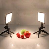 2x Viltrox L116T Video Studio LED Camera Light LCD Display Bi Color Dimmable + 2x Folding Handheld Tripod Stand for DSLR Photo