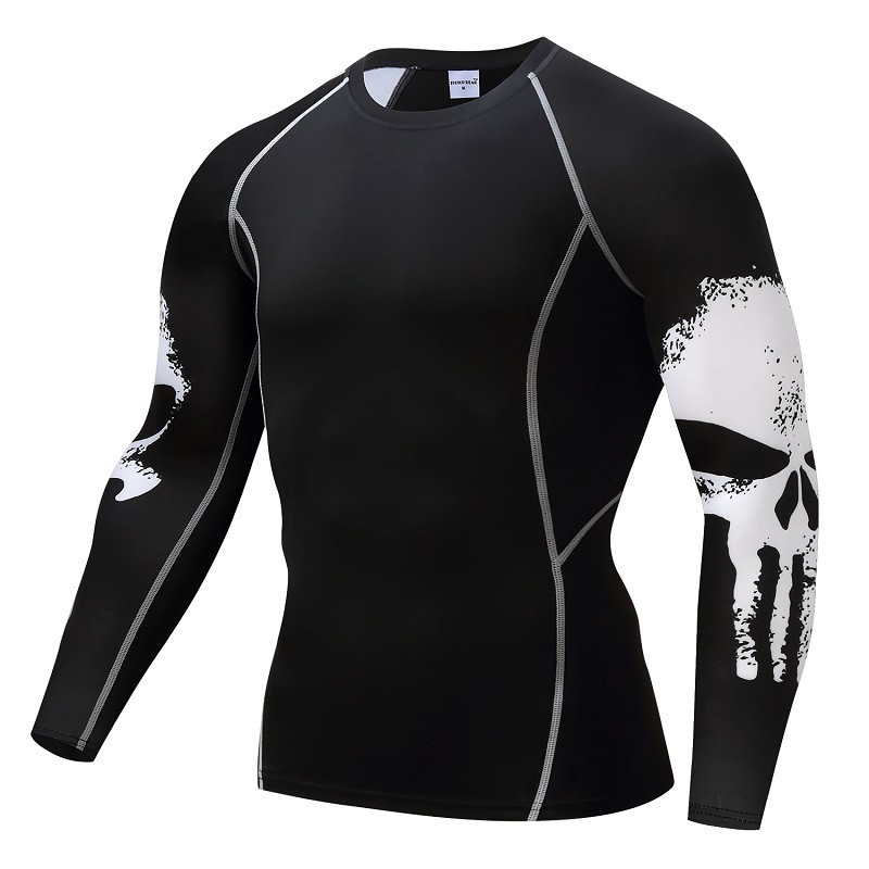 76d4b523b Punisher Compression Shirt Men s Breathable Fast-drying T-shirt  Bodybuilding Top Crossfit T Fitness