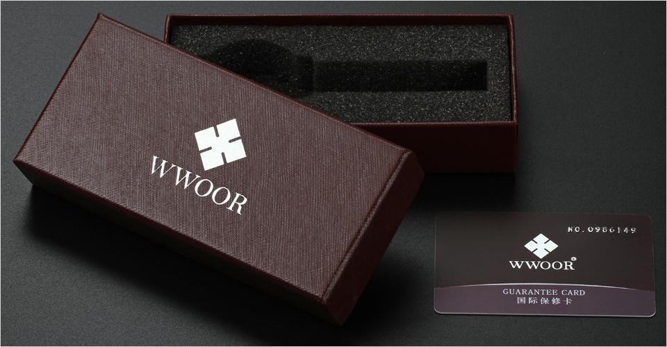 WWOOR Brand Luxury Men Waterproof Stainess Steel Casual Gold Watches Men's Quartz Sport Wrist Watch Male Clock relogio masculino 16
