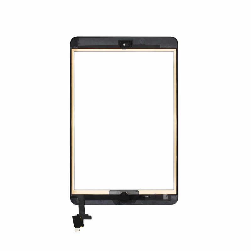 كامل اختبار محول الأرقام شاشة تعمل باللمس ل أبل باد البسيطة 1 A1432 A1454 A1455 الجبهة زجاج عدسة مع زر المنزل + IC