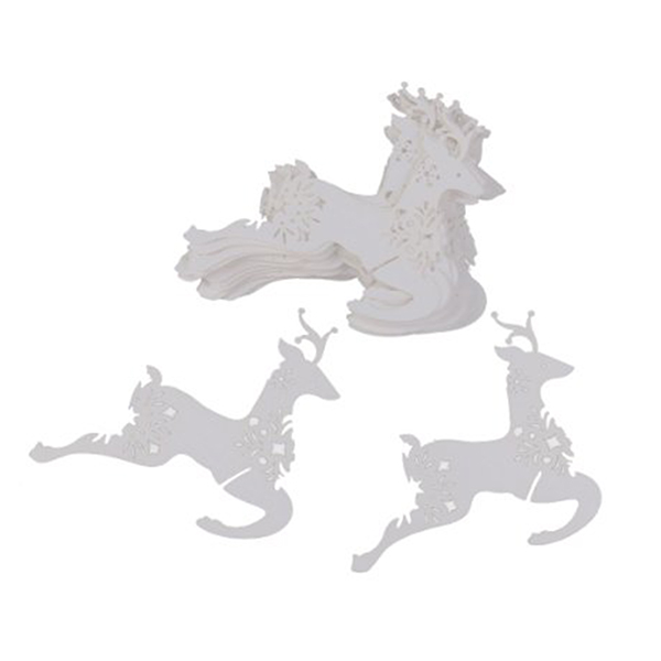 Reindeer Shape Place Name Cards Christmas Wedding Party Wine Glass