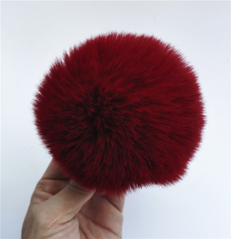 White Fur Balls For Knitted Hats Scarves 15cm Real Raccoon Fur Pom Pom For   Beanies   Caps Bags Key Chain Clothing Fur Accessories