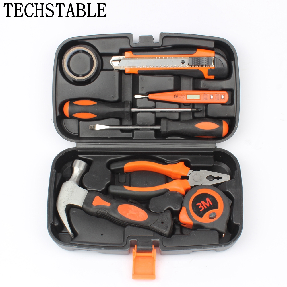 8Pcs/set Multifunctional Home Routine Repair Hand Tool Sets Screwdriver Hammer Pliers Combination Kit Hardware Repair Tools the most useful 82pcs home hardware tool kit kit set hot combination for home improvement diyer reliable partner at home