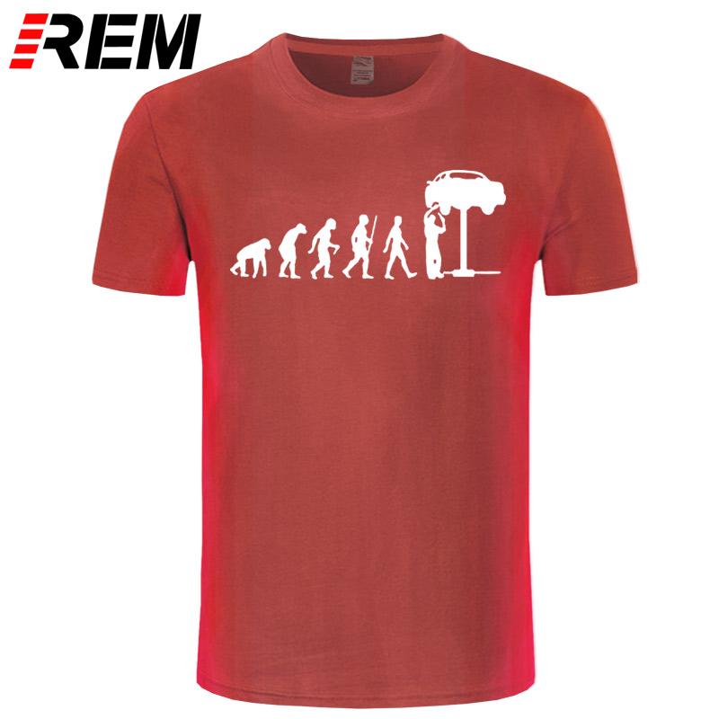 HTB1SqXXcRUSMeJjSszcq6znwVXaG - REM Summer Style Evolution Auto Mechaniker Mechanic Car T-Shirt Tops Funny Gift T Shirt For Men Tee
