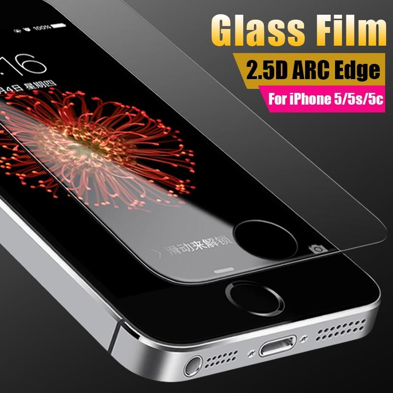 Ochranný film pro sklo iPhone 5s Scratch Proof Tvrzené sklo Screen Crystal Clear Ultra Thin ochranné sklo pro iPhone 5 SE