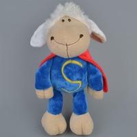 35 cm knuffel leuke cartoon creatieve Superman schapen gevulde sussen pop lam Valentijn verjaardag kerstcadeau Gratis Verzending