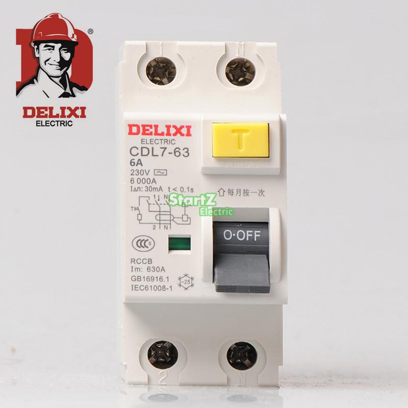 цена на 16A 2P RCCB Circuit Breaker CDL7-63 DELIXI